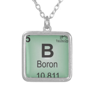 Periodic table necklaces zazzle uk boron individual element of the periodic table silver plated necklace urtaz Image collections