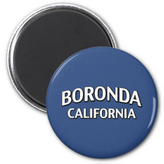 Boronda California Refrigerator Magnet
