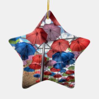 Borough Market umbrella art, London Ceramic Star Decoration