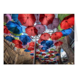 Borough Market umbrella art, London Greeting Card