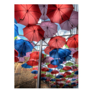 Borough Market umbrella art, London Postcard
