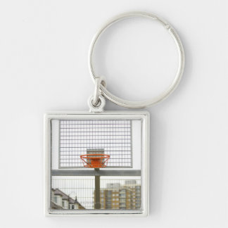 Borough of Bow, London, England Silver-Colored Square Key Ring