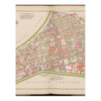 Borough of the Bronx map Postcard