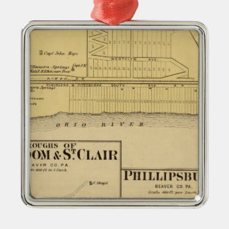 Boroughs of Freedom and St Clair with Philippsburg Christmas Ornament