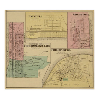 Boroughs of Freedom and St Clair with Philippsburg Poster