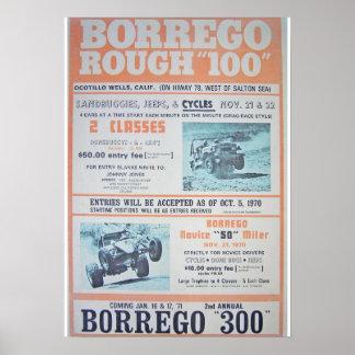 Borrego Rough 100 Race Poster Print