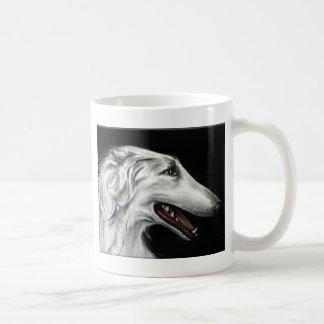 borzoi basic white mug