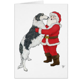 Borzoi Christmas Greeting Card