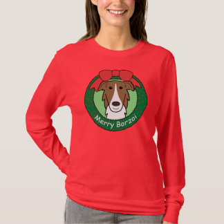 Borzoi Christmas T-Shirt