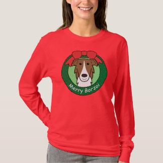 Borzoi Christmas T-Shirt