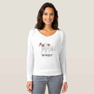 Borzoi Dog Art Shirt