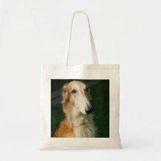 Borzoi dog beautiful photo tote bag