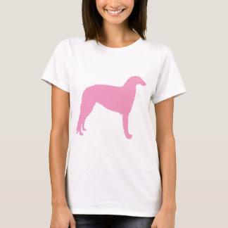 Borzoi Dog (pink) T-Shirt