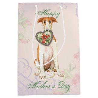 Borzoi Heart Mom Medium Gift Bag