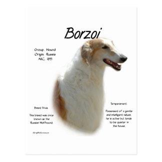 Borzoi History Design Postcard