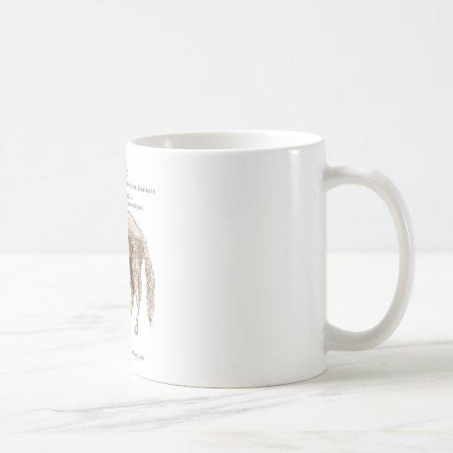 Borzoi - nuts basic white mug