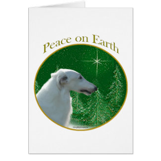 Borzoi Peace Card