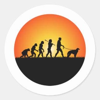 Borzoi Round Sticker