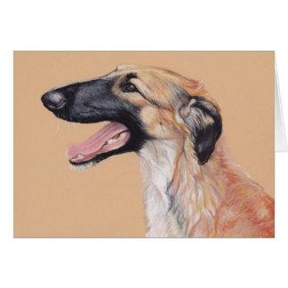 Borzoi Russian Wolfhound Dog Art Card