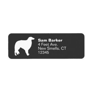 Borzoi Silhouette Return Address Label