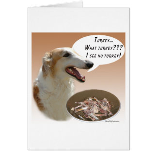 Borzoi Turkey Card