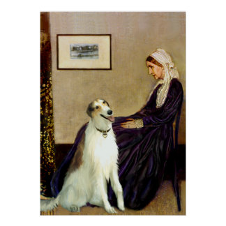 Borzoi - Whistlers Mother Poster