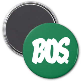 BOS Letters 7.5 Cm Round Magnet