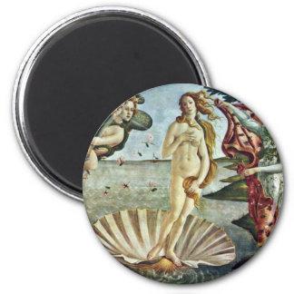 Bosanski: Roä'Enje Venere.,  By Sandro Botticelli 6 Cm Round Magnet
