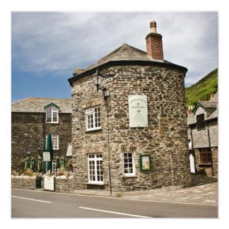 Boscastle, Cornwall 13 Cm X 13 Cm Square Invitation Card
