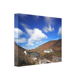 Boscastle in Cornwall Stretched Canvas Print