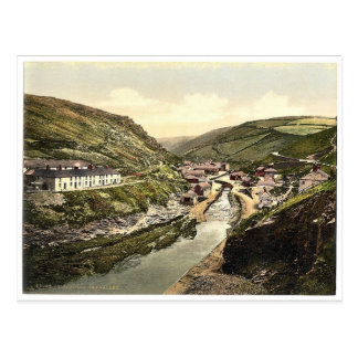 Boscastle, the valley, Cornwall, England vintage P Postcard