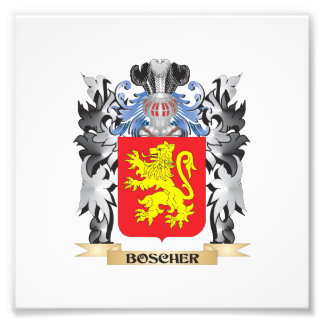 Boscher Coat of Arms - Family Crest Photo Print