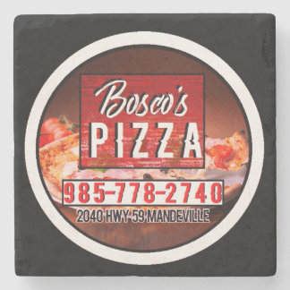 Bosco's Pizza Marble Coaster