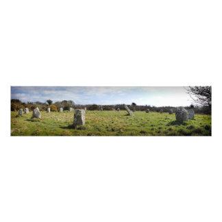 Boscowan-Un Stone Circle Panorama Art Photo