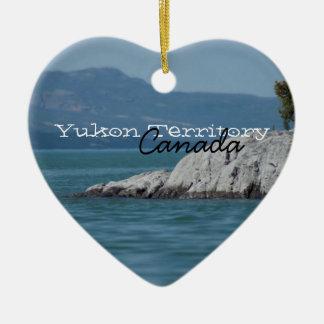 BOSHO Boreal Shore Ceramic Heart Decoration