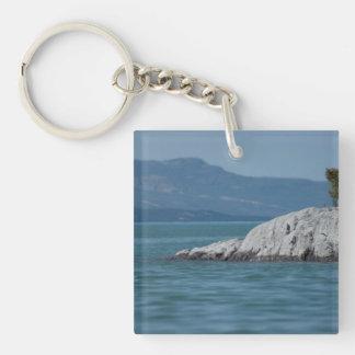 BOSHO Boreal Shore Single-Sided Square Acrylic Key Ring