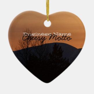 BOSI Boreal Silhouette Ceramic Heart Decoration