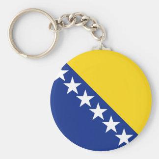 bosnia and herzegovina basic round button key ring