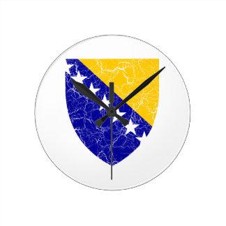 Bosnia And Herzegovina Coat Of Arms Round Wallclock