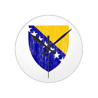 Bosnia And Herzegovina Coat Of Arms Round Clocks