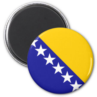 Bosnia and Herzegovina Flag 6 Cm Round Magnet