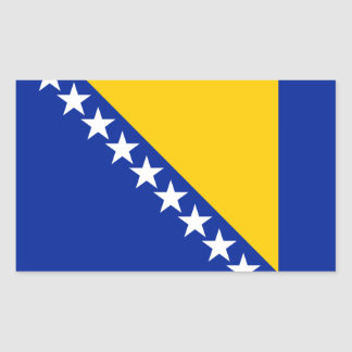 Bosnia and Herzegovina Flag Bosnian//Herzegovinian Rectangular Sticker