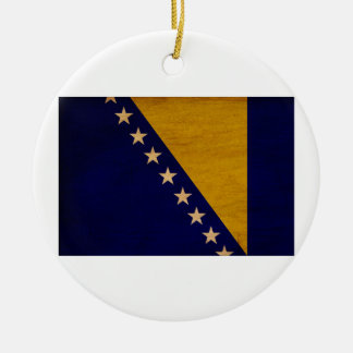 Bosnia and Herzegovina Flag Christmas Ornament