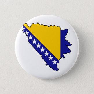 Bosnia and Herzegovina map BA 6 Cm Round Badge