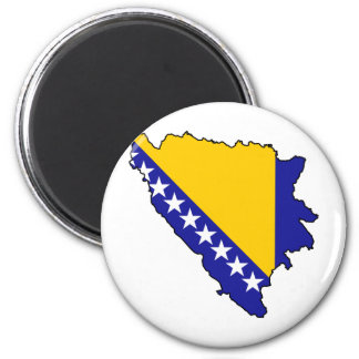 Bosnia and Herzegovina map BA 6 Cm Round Magnet