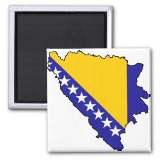 Bosnia and Herzegovina map BA Square Magnet