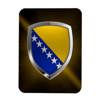 Bosnia and Herzegovina Metallic Emblem Rectangular Photo Magnet