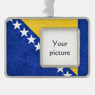 Bosnia and Herzegovina Silver Plated Framed Ornament