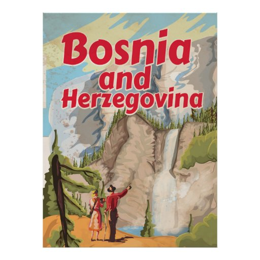 Bosnia and Herzegovina Vintage Travel Poster