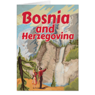 Bosnia and Herzegovina Vintage Travel Poster Greeting Card